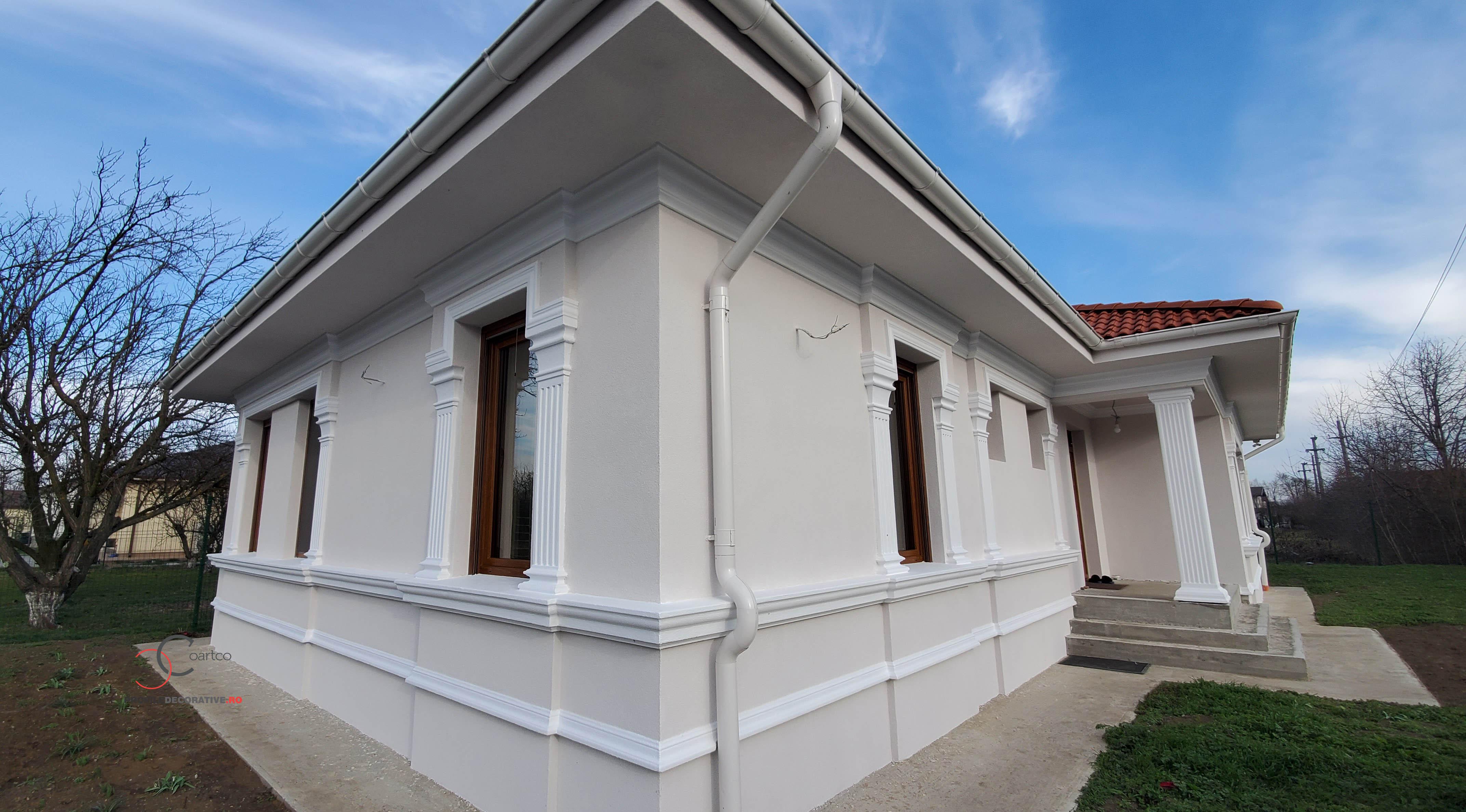 culoare pentru fatade case cu elemente arhitectule