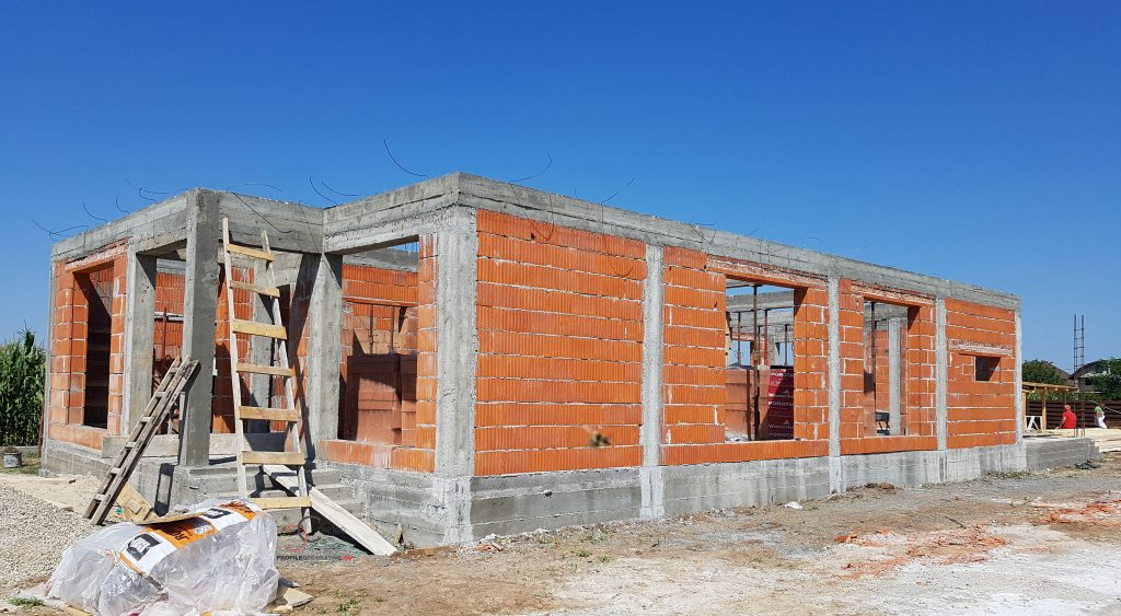proiect casa 3 camere living baie si bucatarie de 120 mp