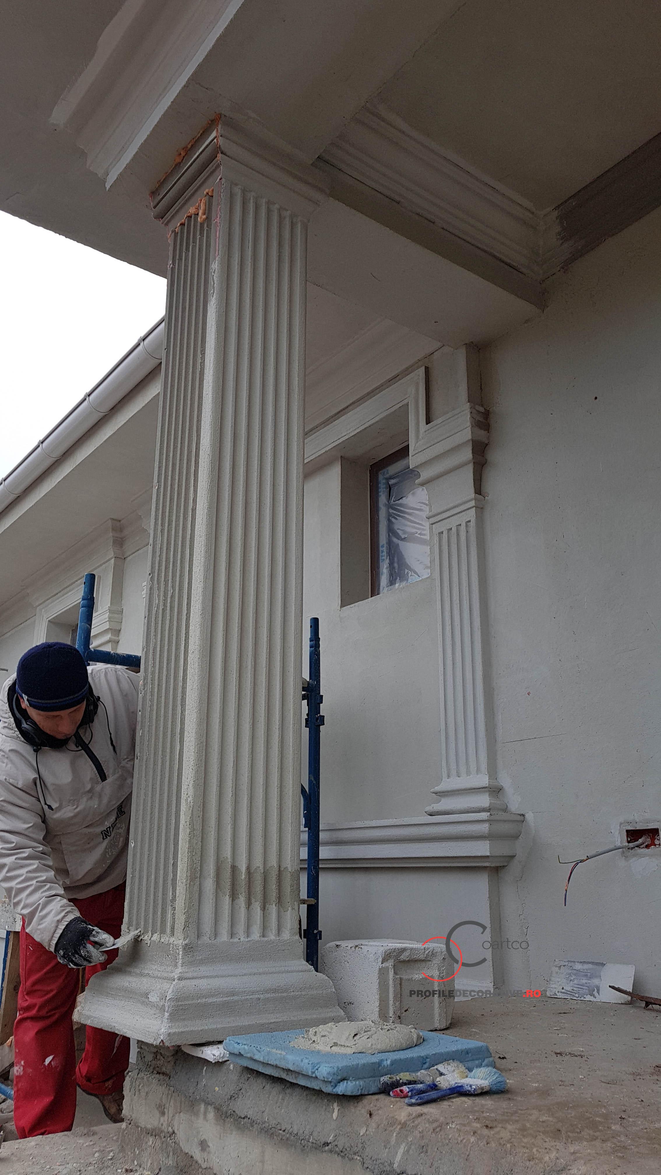 manopera montaj coloana decorativa coloana patrata