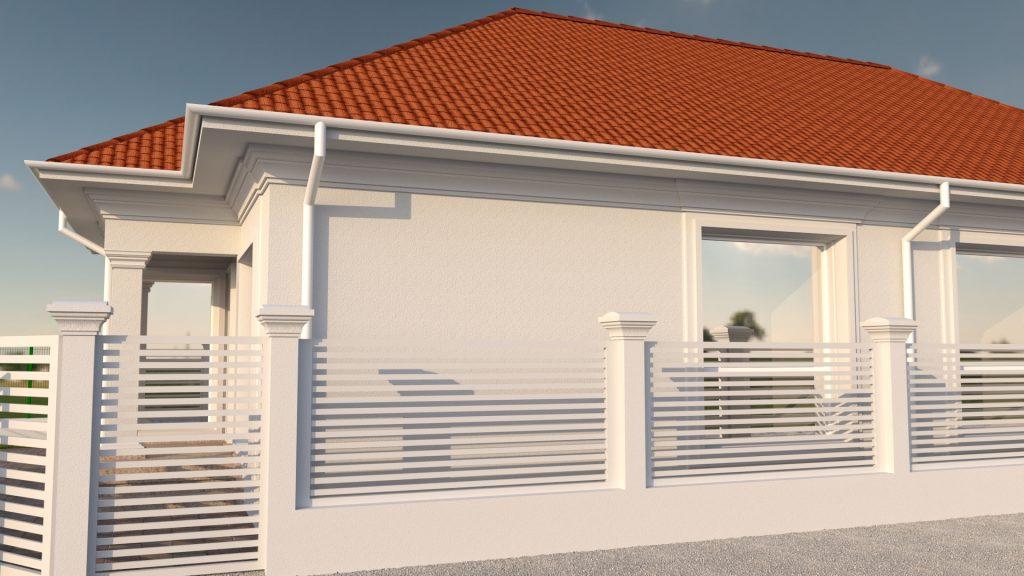 proiect 3d de casa mica fara etaj