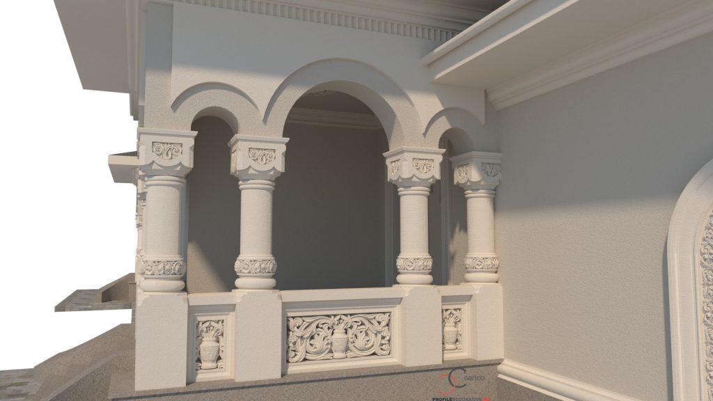 ancadramente fatada casa ferestre case neorormanesti