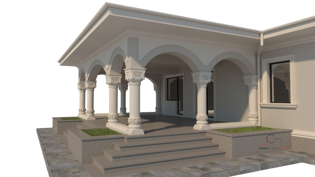 casa neorormanesca simulare arhitecturala