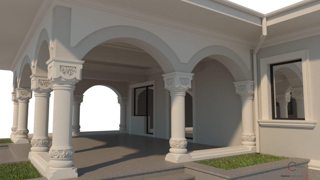 modele terasa cu coloane neorormanesti