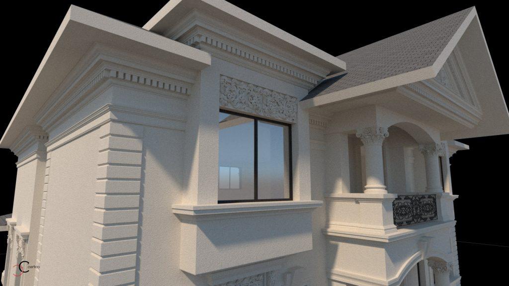 decorativa casa exterior ca model si culoare se stabileste dupa realizarea unui proiect 3d