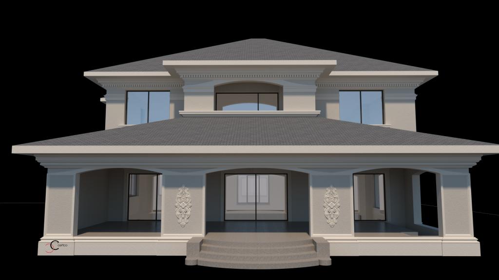 model fatada cu decorativa in proiect 3d de design