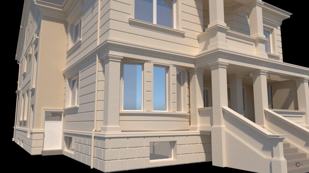 proiect casa cu etaj si coloane patrate
