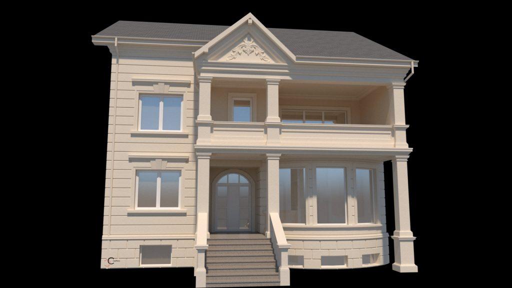 casa proiect cu fatade case cu elemente decorative din polistiren