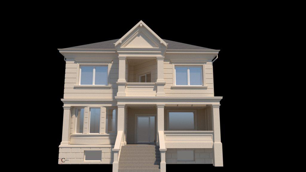 profile polistiren pentru proiecte case cu etaj si fatade cu panouri decorative