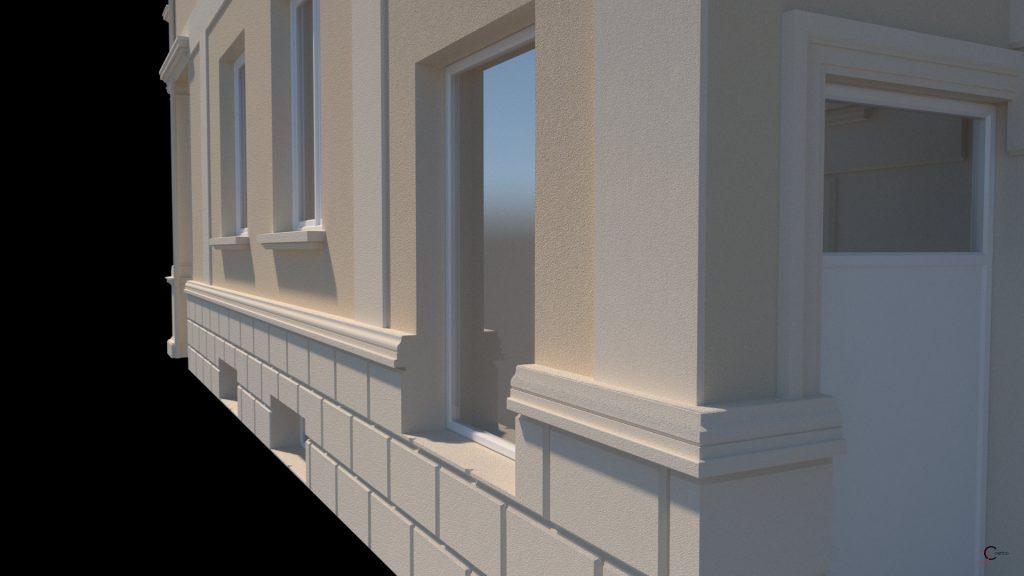 amenajare fatade case culori tencuiala decorativa, profile decorative polistiren
