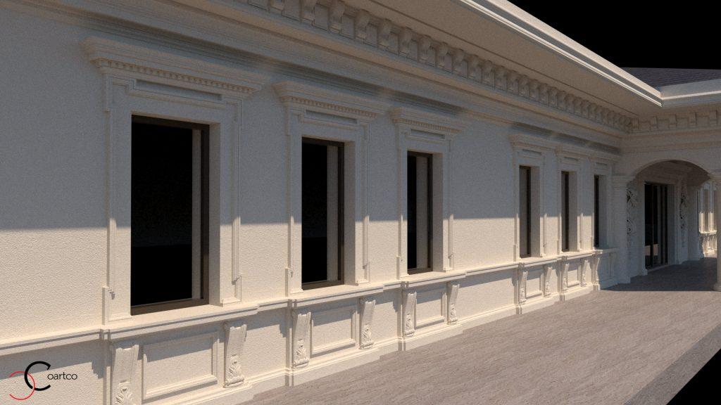 modelare fatade case si cladiri comerciale cu elemente arhitecturale clasice sau neoclasice