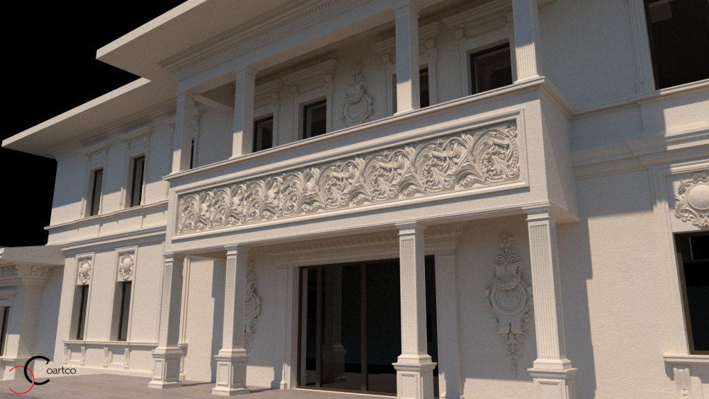 Profile decorative CoArtCo oferim si serviciul de modelare 3d fatade cladiri saloane evenimente