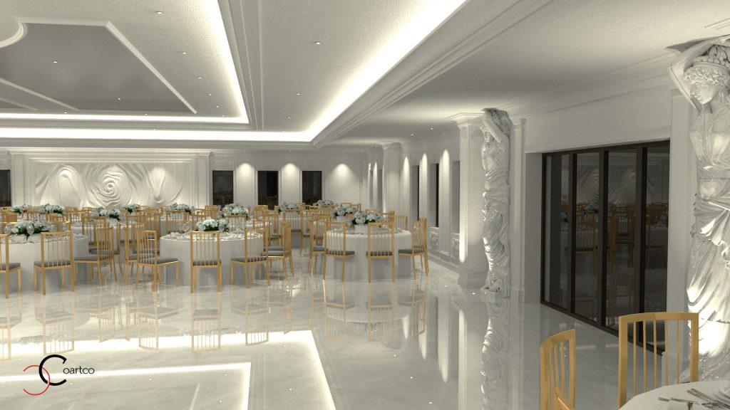 saloane nunti design interior realizat de CoArtCo