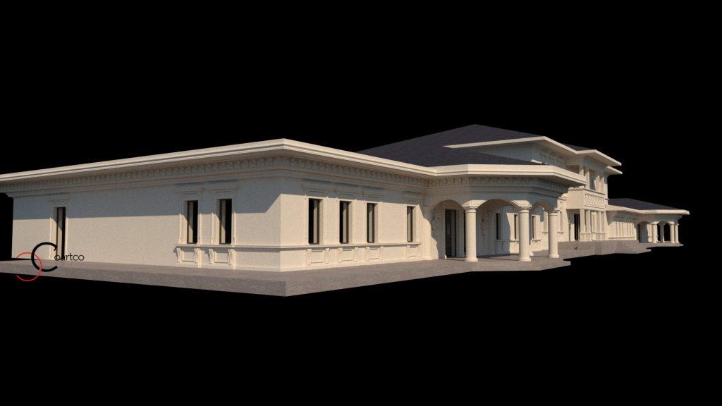 Randare cladire comerciala Birou design fatade CoArtCo